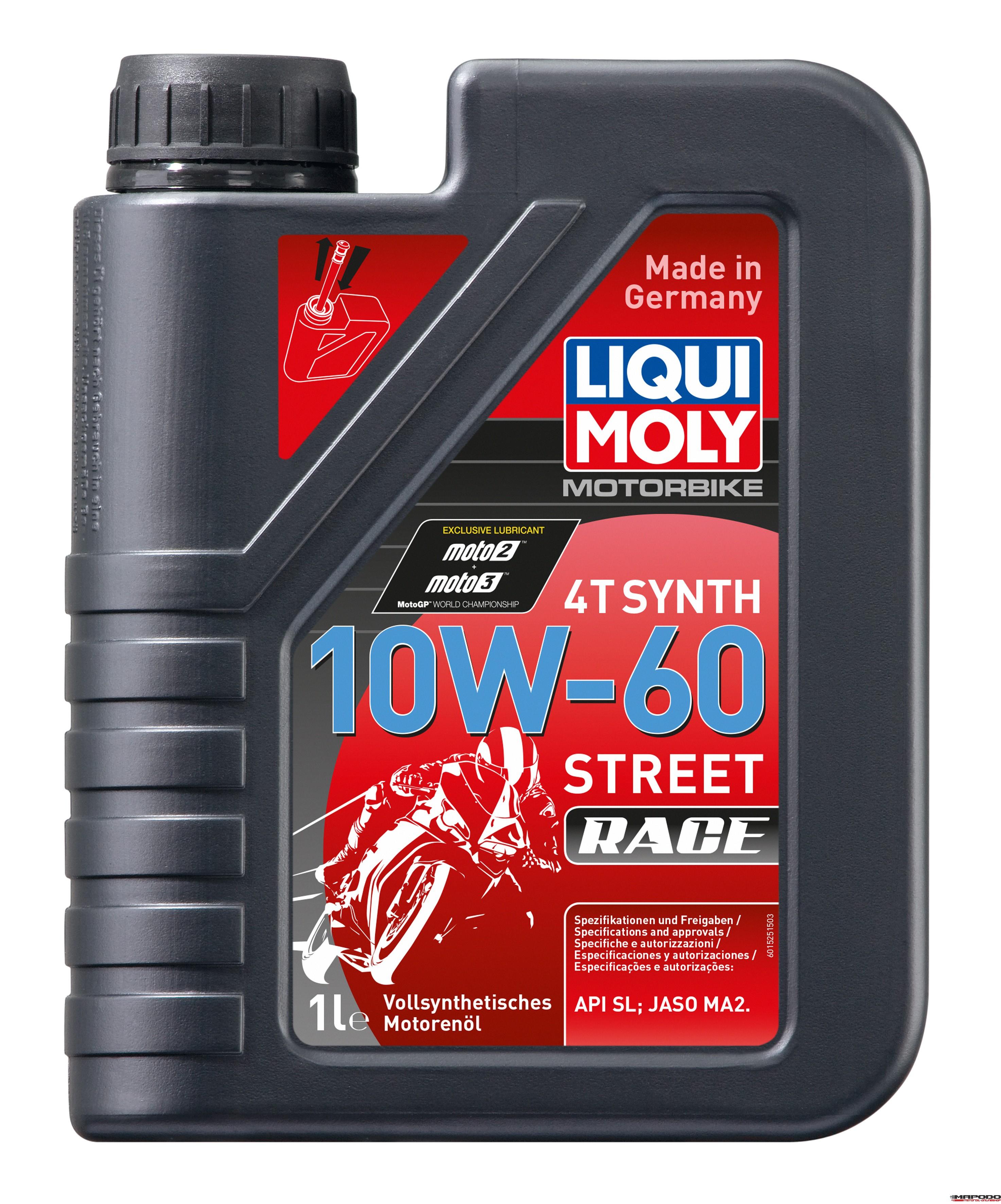 Motorbike 4T Synth 10W-60 Street Race 1L