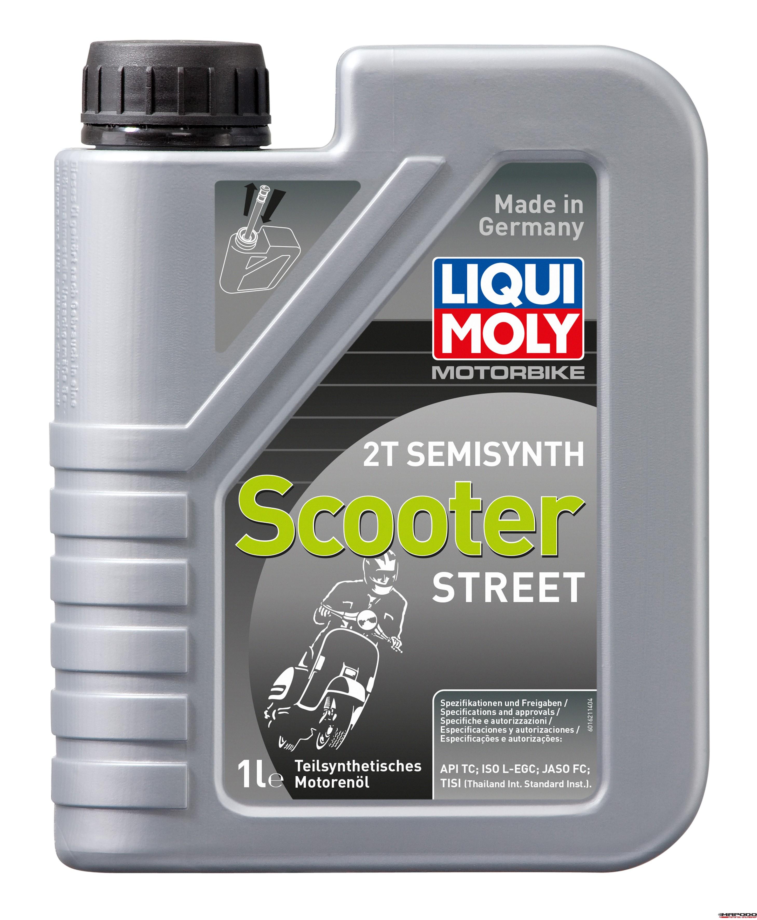Liqui Moly 1621 Motorbike 2T Semisynth Scooter Street 1L