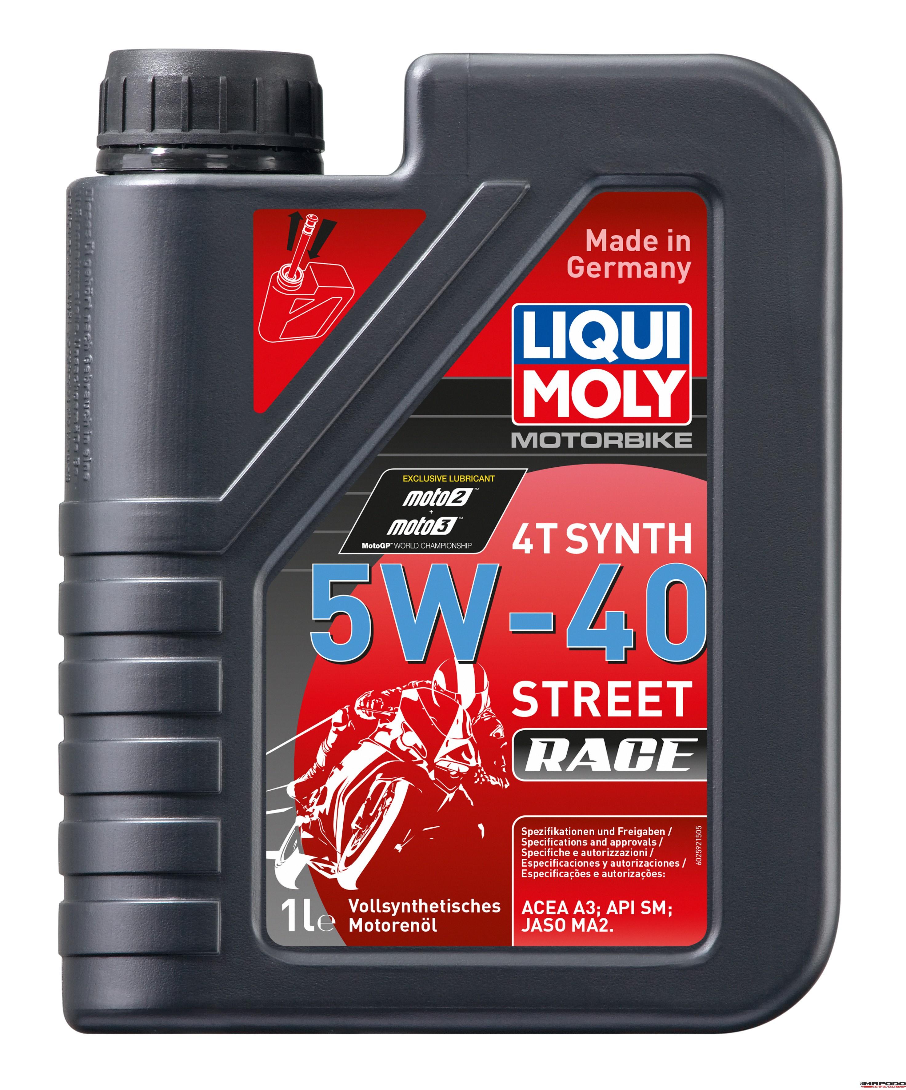 Liqui Moly 2592 Motorbike 4T Synth 5W-40 Street Race 1L