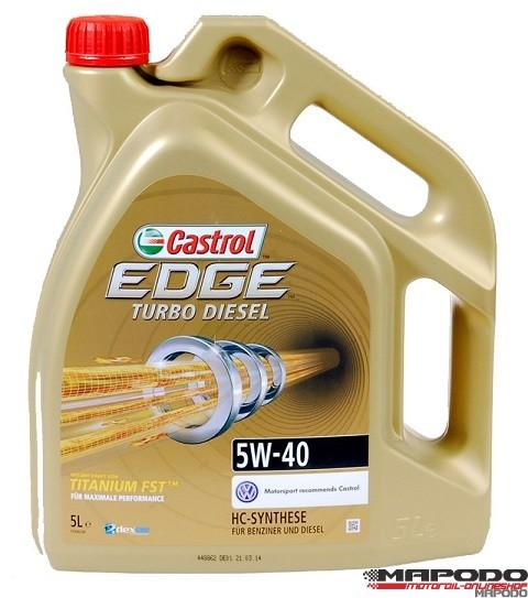 Castrol EDGE TITANIUM FST Turbo Diesel, 5W-40  | 5 ltr.
