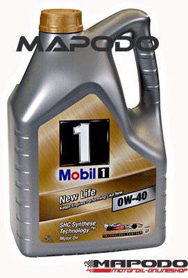 Mobil 1 New Life 0W-40, 5 Ltr.