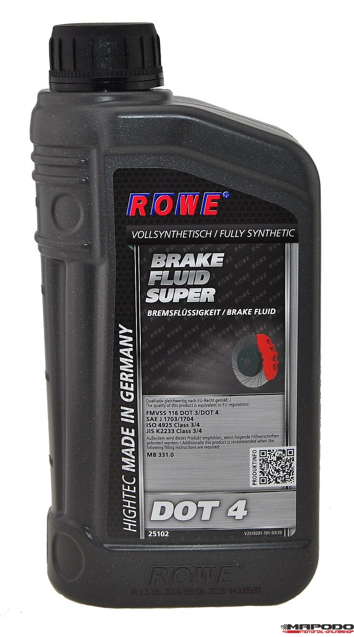 ROWE HIGHTEC Brake-Fluid Super DOT 4 | 1L