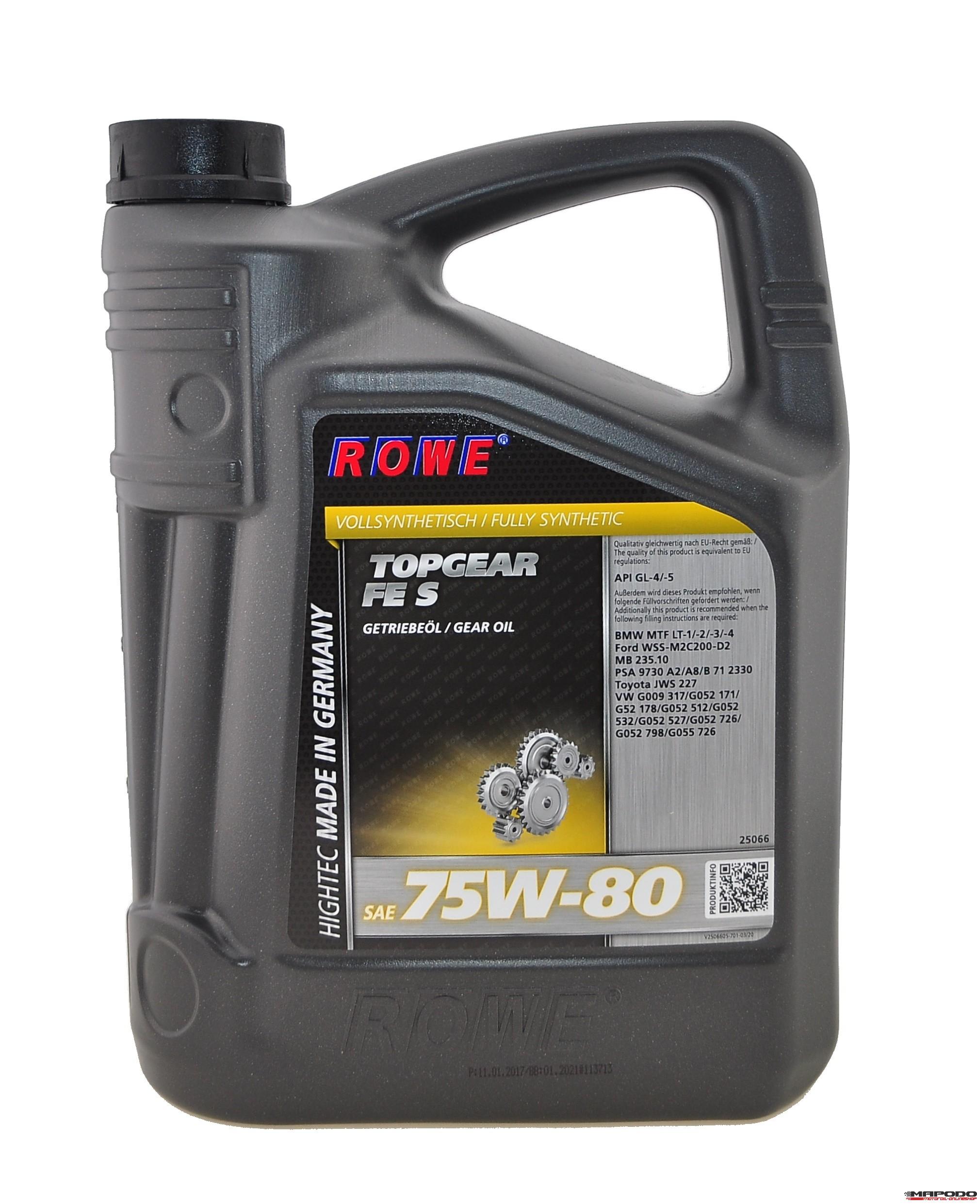 Rowe Hightec Topgear FE SAE 75W-80 S 5 Liter