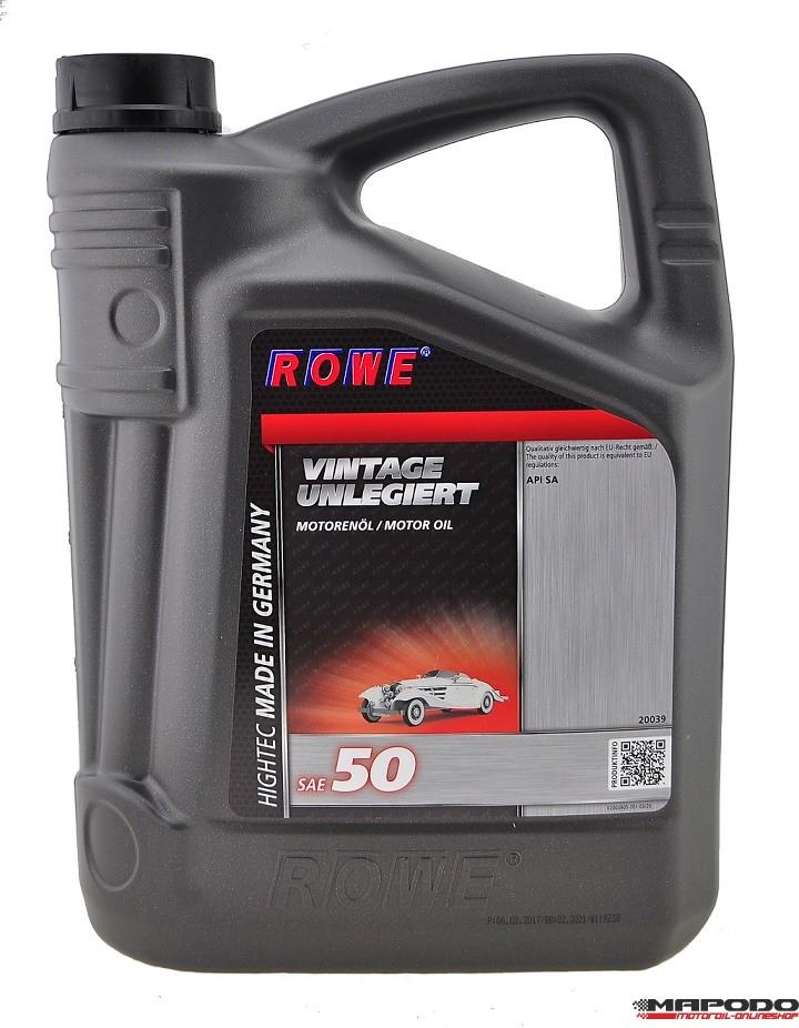 Rowe Hightec Vintage SAE 50 Unlegiert 5L
