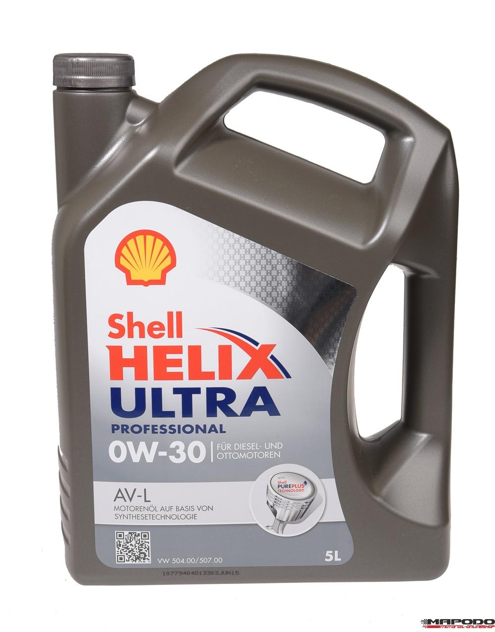 Shell Helix Ultra Professional 0W-30 AV-L 5L (VW 504.00/507.00)