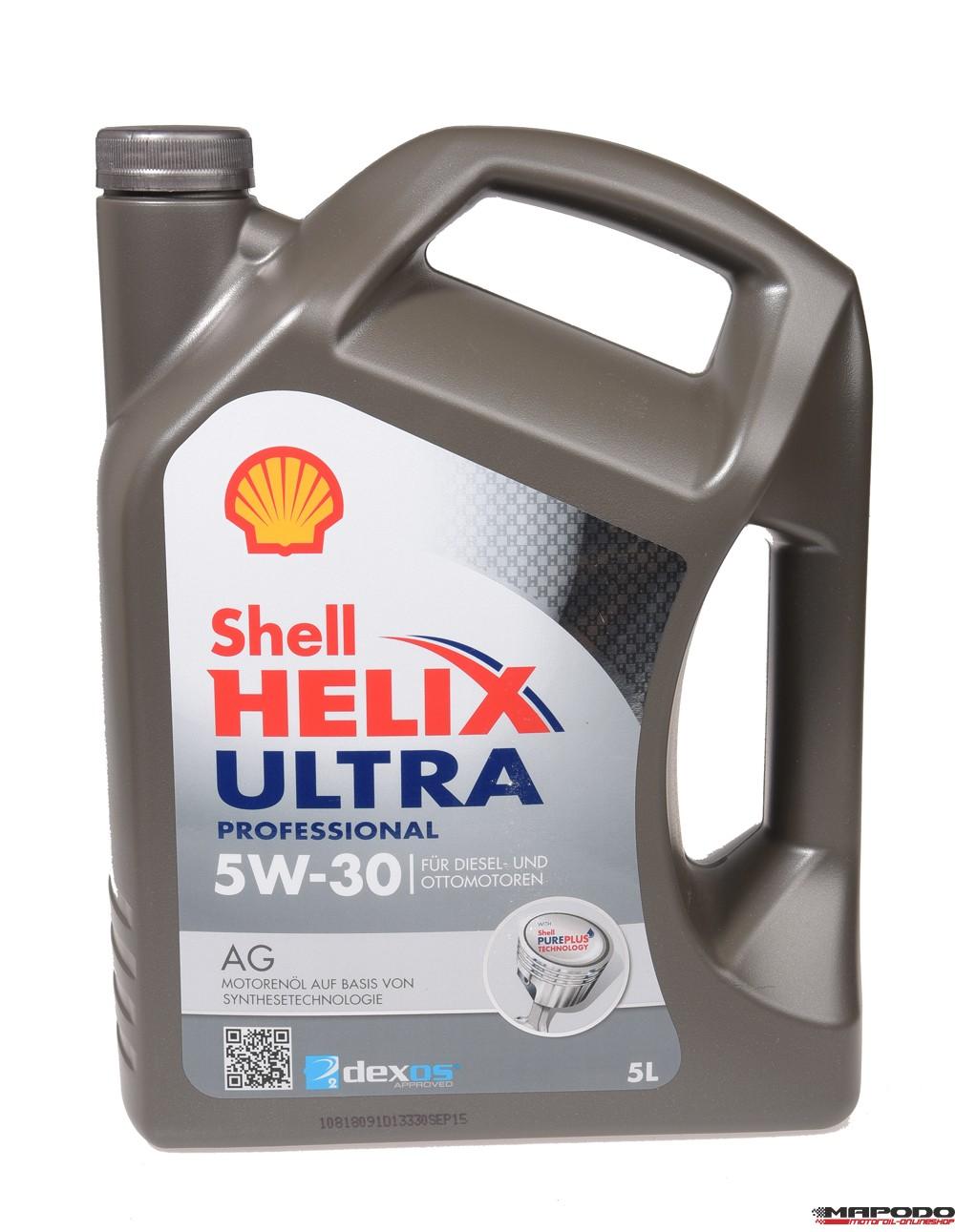 Shell Helix Ultra Professional 5W-30 AG 5L (GM, Dexos 2)