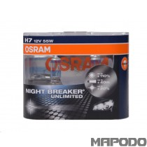 Osram H7 Night Breaker Unlimited 12V 55W PX26d 64210NBU-02B Duo-Box