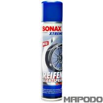 SONAX XTREME ReifenGlanzSpray Wetlook für langanhaltenden satten Tiefenglanz. Der Gummi wird gleichzeitig gepflegt und bei regelmäßiger Anwendung vor Rissbildung, vorzeitiger Alterung, Braunfärbung und Farbausbleichung geschützt. Die tiefschwarze glänze