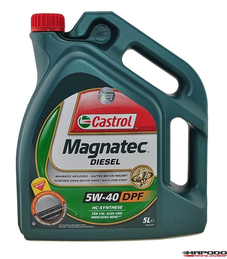 Castrol Magnatec Diesel DPF, 5W-40 | 5 ltr.