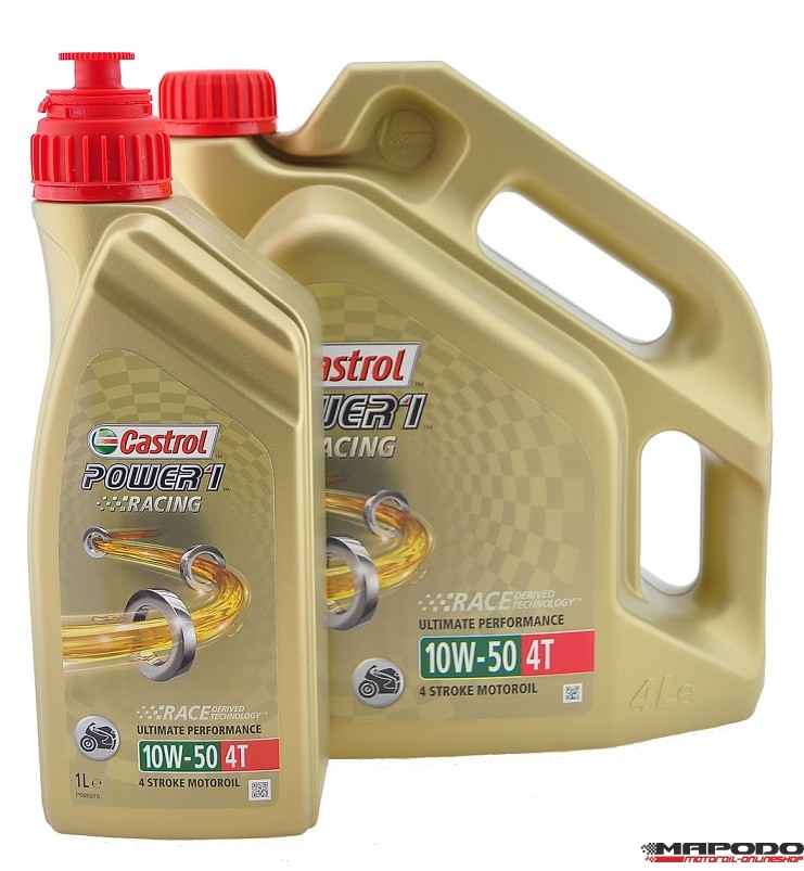 Castrol POWER1 Racing RS 4T, 10W-50 | 4+1 Ltr.