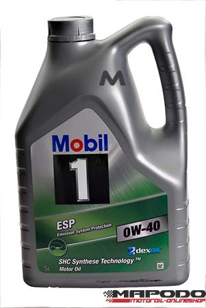 Mobil 1 ESP 0W-40, 5L