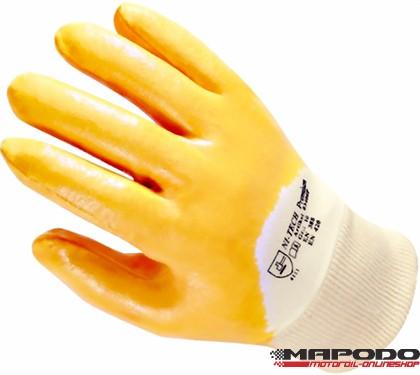 Nitrilhandschuhe, gelb / Arbeitshandschuhe