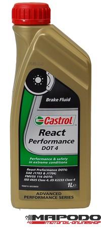 Castrol React Performance DOT 4, Bremsflüssigkeit   1 ltr.