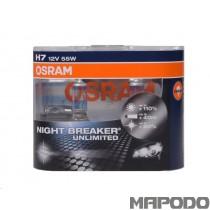 Osram H7 Night Breaker Unlimited 12V 55W PX26d 64210NBU-02B Duo-Box