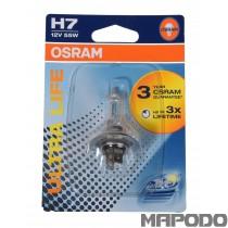 Osram H7 Ultra Life 12V 55W PX26d Glühbirne 64210ULT-01B